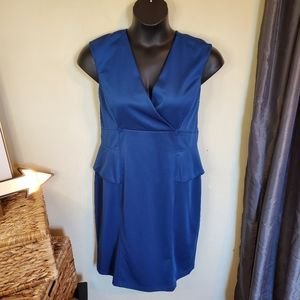London Style Collection Royal Blue Drese Size 18
